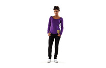 Mons Royale Women Scoop Long Sleeve purple